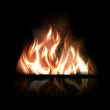 Vector Fire. Vector illustration of burning fire on a black background Stock Photography