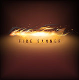 Vector fire illustration. Business promotion. Vector illustration. Vector fire illustration on brown background with text. Business promotion. Banner Vector Stock Images