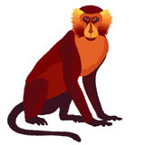 Vector fire monkey, symbol of New Year 2016 Royalty Free Stock Images