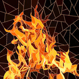 Vector of fire in mosaic. Royalty Free Stock Image