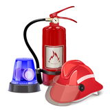 Vector Fire Prevention Concept. On white background Stock Images