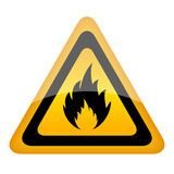 Vector fire sign. Isolated on white vector illustration