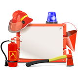 Vector Firefighter Board Royalty Free Stock Photography