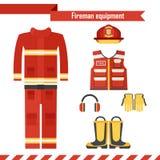 Vector fireman workwear Stock Image