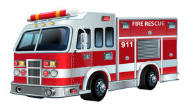 Vector Firetruck Stock Image