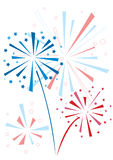 Vector firework royalty free illustration