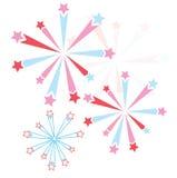 Vector firework Stock Image