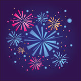 Vector firework. In the night sky Royalty Free Stock Image