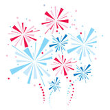 Vector firework. In the white sky Royalty Free Stock Photography