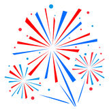 Vector firework Stock Photos