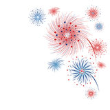 Vector firework design isolated on white background. For 4 july independence day Royalty Free Stock Images