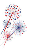 Vector firework design isolated on white background. With design work Royalty Free Stock Photo