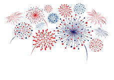 Vector firework design  on white background. With copy space Stock Image