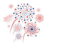 Vector firework design on white background. Vector firework design isolated on white background Stock Photos
