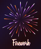 Vector firework illustration Stock Photos