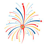 Vector firework on white background. Vector illustration Royalty Free Stock Image