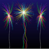 Vector fireworks. An image of beautiful fireworks celebration vector illustration