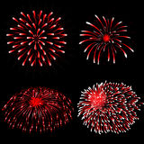 Vector fireworks. Abstract illustration of fireworks in the sky royalty free illustration