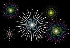 Vector fireworks Royalty Free Stock Photography