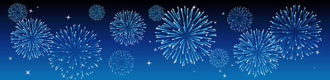 Vector fireworks royalty free stock images