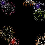 Vector fireworks background Stock Image