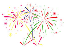Free Vector Fireworks Background Royalty Free Stock Photos - 31632258