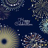 Vector fireworks background illustration with place for text. Vector banner or poster fireworks background illustration with place for text Stock Photo