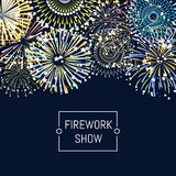 Vector banner or poster fireworks background illustration with place for text. Vector fireworks background illustration with place for text Stock Image