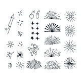 Vector fireworks elements Royalty Free Stock Photography