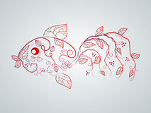 Vector Fish. Vector picture with bizarre fish vector illustration