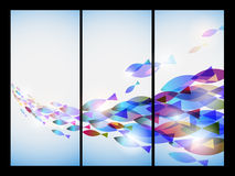 Vector fish in card board. Using fish shape to overlap each other with colorful colors Royalty Free Stock Photo