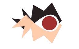 Vector fish eye. Black and light orange Stock Photo