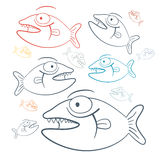 Vector Fish Illustration Royalty Free Stock Photo