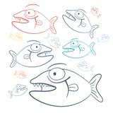 Vector Fish Illustration Royalty Free Stock Photo