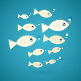 Vector Fish Illustration Royalty Free Stock Images