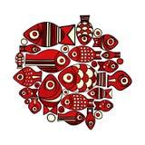 Vector fish pattern Stock Image