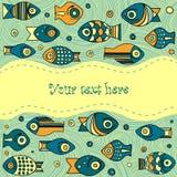 Vector fish pattern Royalty Free Stock Photo