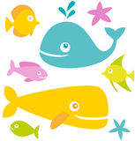 Vector fish. Set of cute cartoon fishes Royalty Free Stock Photography
