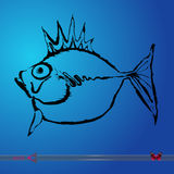 Vector fish. Vector illustration on white background.  Stock Photography
