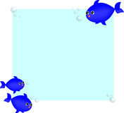 Vector fishes blue Royalty Free Stock Photo
