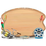 Vector Fishing Board Stock Photography