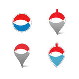 Vector fishing icon in a flat style. Stock Photography