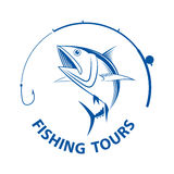 Vector fishing tours, Royalty Free Stock Image