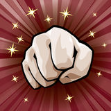 Vector fist Royalty Free Stock Photography