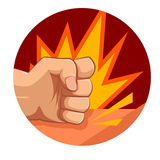 Vector fist strike. Vector image of a fist strong strike Stock Photography
