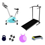 Vector fitness equipment. Royalty Free Stock Image
