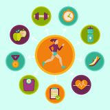 Vector fitness infographics design elements Stock Image