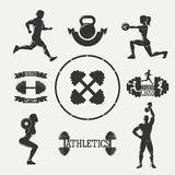 Vector fitness set Royalty Free Stock Images
