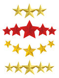 Vector Five golden stars Stock Photos