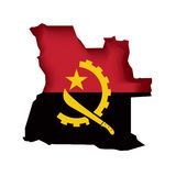 Vector Flag Angola royalty free illustration